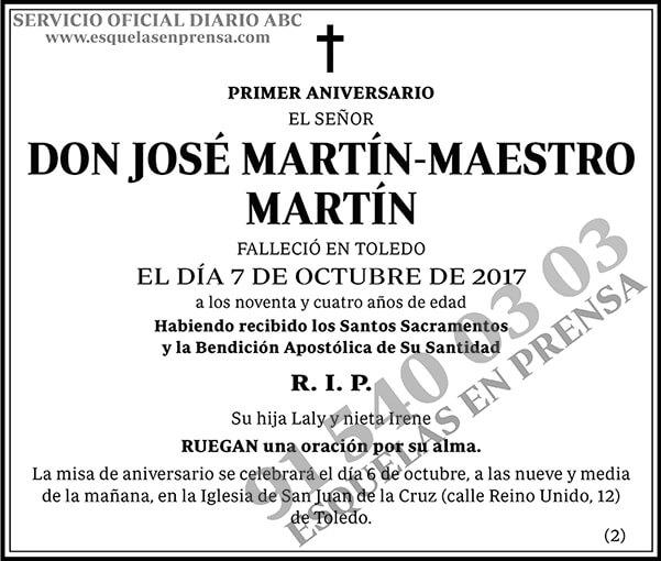 José Martín-Maestro Martín